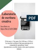 Laboratorio de escritura creativa de mayo 2