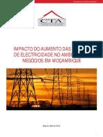 IMPACTO DO AUMENTO DAS TARIFAS DE ELECTRICIDADE