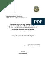 La Teoría de La Gestión en El Proceso de Cambio Organización de Centros de Elaboración de Fórmulas Lácteas Infantiles de Los Servicios de Nutrición de Hospitales Públicos de Alta Complejidad (1)