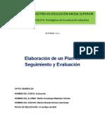 2.2.1 Elaboración de un Plan de Seguimiento y Evaluación