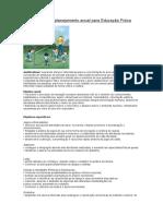 Exemplo de planejamento anual para Educação Física
