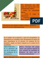 clasificaciond de tipos de dietas