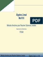 Metodos para resolver sistemas lineales.pdf