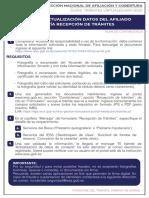 GUIA DE TRÁMITE ACTUALIZACION DATOS DEL AFILIADO - RECEPCIÓN TRÁMITES