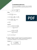 Eercicios de Sedimentación - Procesos 2