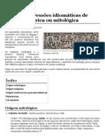 Lista de expressões idiomáticas de origem histórica ou mitológica – Wikipédia, a enciclopédia livre