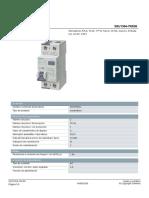 5.- Interruptor Diferencial 5SU13547KK06