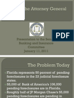 New Florida Attorney General Report on Fraud Closures Presented to the FL Senante Banking and Insurance Committee