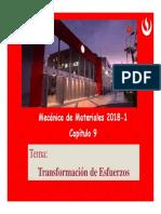 Cap09 Transformacion de esfuerzos v2018-1 [Modo de compatibilidad].pdf