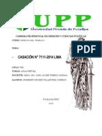 analisis de la casacion  7111-2014