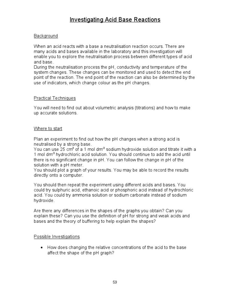 acid base | Ph | Titration
