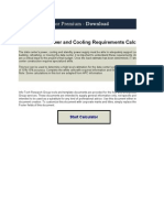 Facilities Management_1.7.2. Data Center Power and Cooling Requirements Calculator