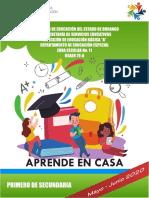 CUADERNILLO ACTIVIDADES APRENDE EN CASA 1 Secundaria