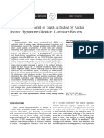 [23350245 - Balkan Journal of Dental Medicine] Adhesion to Enamel of Teeth Affected by Molar Incisor Hypomineralization_ Literature Review