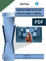 CARTILHA SOBRE ATESTO DE SERVIÇÕS, OBRAS E COMPRAS - 2011