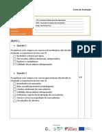 Teste de Avaliação - ufcd 0415 - Prevenção de quebra das mercadorias
