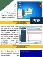 system restoration for technician