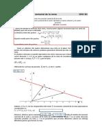 Guía Nº5 Vectores(Ecuación vectorial  y paramétricas de la recta)