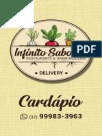 INFINITO SABORES - CARDÁPIO