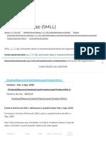 Índice Small Cap - SMLL - Composição da Carteira - 18 de maio de 2020