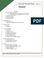 Temario Curso Excel