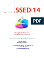 2014 09 Self Awareness Self Marketing - Strength Weakness Self Exercise