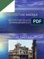 ARCHITECTURE BAROQUE