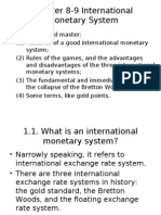 Chapter 8-9 International Monetary System
