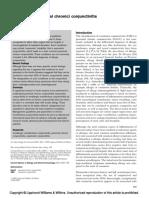 Vasomotor (perennial chronic) conjunctivitis