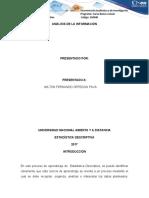 presentación y Análisis de la Información.