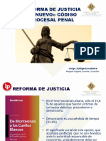 Diapositivas sobre nuevo proceso penal