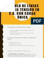 CALCULO DE LÍNEAS DE BAJA TENSIÓN EN C
