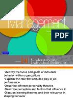 Chapter 14 Understanding Individual Behaviour