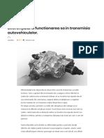 Diferenţialul Si Functionarea Sa in Transmisia Autovehiculelor. – AutoTehnica