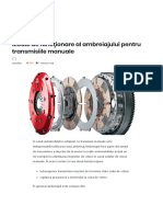 Modul de Funcţionare Al Ambreiajului Pentru Transmisiile Manuale – AutoTehnica