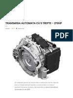 Transmisia Automata Cu 9 Trepte – Zf9hp – Autotehnica