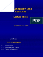 3-Research Methods 3684 Lecture Three