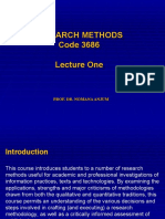1-Research Methods 3684 Lecture One