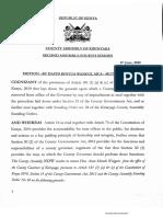 Charges against Kirinyaga Governor Anne Waiguru