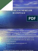 1. Multimea numerelor rationale