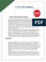 The Coca cola company principal of management