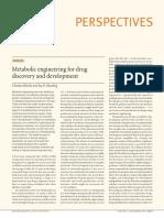 Metabolic engineering for drug