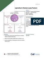 Metabolic Heterogeneity in Human Lung Tumors