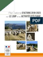 Plan national France sour le loup et Activites Elevage 2018 2023