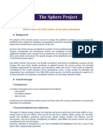 What is New in the 2011 Edition of the Sphere Handbook Final[1]