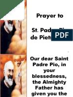 PRAYER TO ST. PIO
