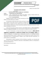 CARTA N° 021 - RESIDENCIA - CUMPLIMIENTO WALTER