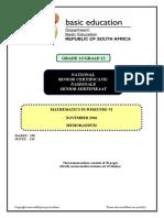 Mathematics P1 Nov 2016 Memo Afr & Eng