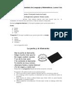 Actividad complementaria de Lenguaje y Matemáticas