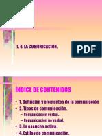 T.4. La comunicacion